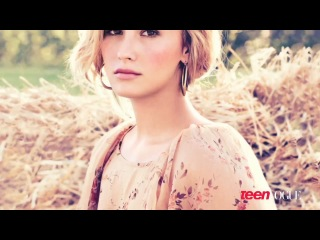 Demi Lovato on the set of her Teen Vogue cover shoot